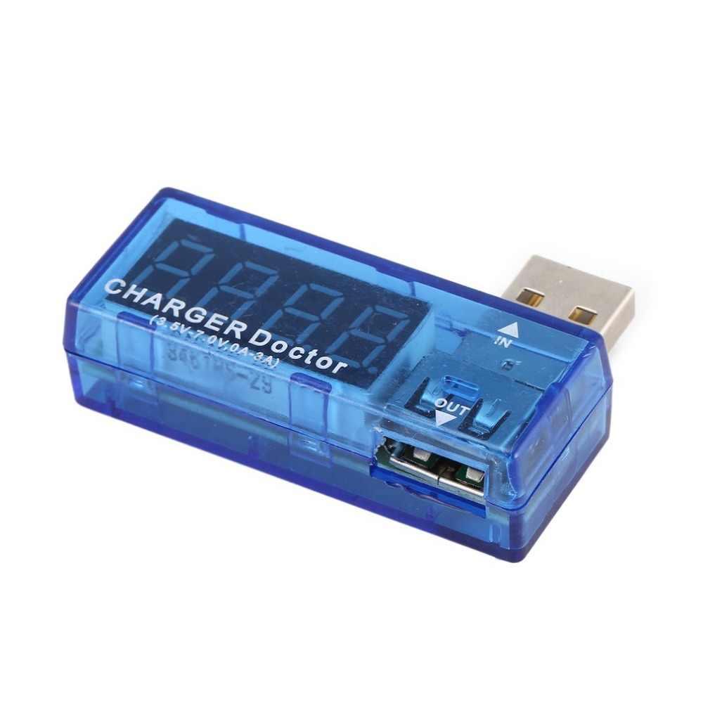Usb تستر الرقمية USB أمبير الفولتميتر الحالي جهاز قياس الجهد الكهربائي الكاشف المحمول بطارية الطاقة متر مع شاشة LCD