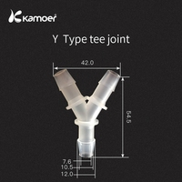 kamoer PP tube connector for peristaltic pump Water Pipe Joint Hose To Hose Silicone Tube Linker connector tube 30PCS