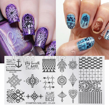 Nail Art Stamping Template Stamp Plates Image Transfer Printing Tool Dream Catcher Tribal Totem Ethnic style