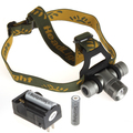 Zoomable Q5 LED Headlamp Headlight Zoom Outdoor Camping Head Light Lamp Green / Red / Blue Diffuser + 18650 Battery & Charger