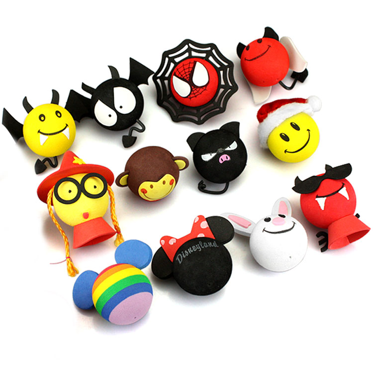 Little Cute Funny Cartoon Doll Antenna Balls Plush EVA Foam Aerial Toppers Decoration 3D Sticker Car Styling Roof Ornament