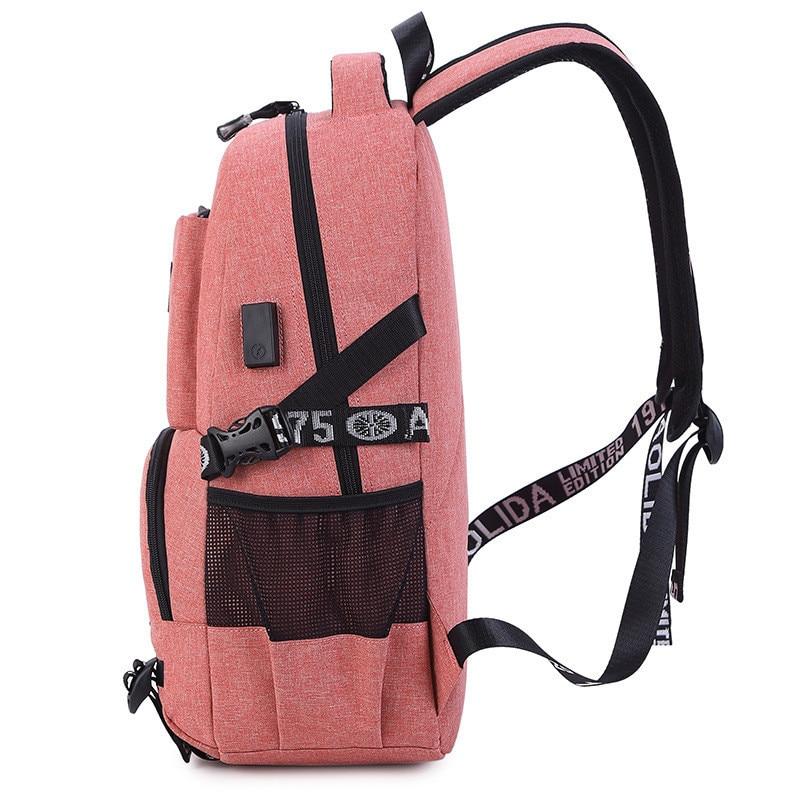 USB Charging Laptop Backpack Women School Backpacks Schoolbag For Teenagers Man Student Book Bag Boys Satchel Travel Bags