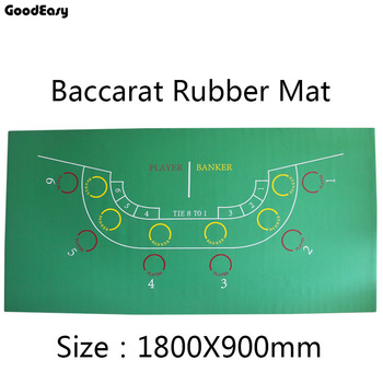 180*90cm  Baccarat Rubber Texas Hold'em Casino Poker Tablecloth Green Board Game Table Mat Game Mat with 6 players High Quality