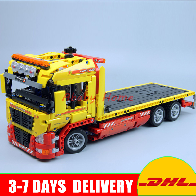 DHL IN STOCK Clone 8109 Lepin 20021 1143 PCS Flatbed trailer Building blocks Bricks Model Toys Gift Educational Car dhl lepin 18032 2932 pcs the mountain cave my worlds model building kit blocks bricks children toys clone21137 in stock