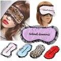 1 pcs Mulheres Viagem Suave De Seda Preenchido Aids Dormir Máscara Eye Capa Sombra Blindfold Resto Escudo 21.5*11 cm Venda quente