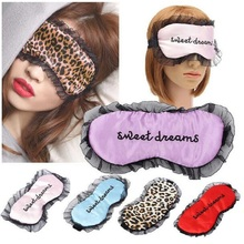 1pcs Women Travel Soft Silk Filled Sleeping Aids Eye Mask Cover Shade Blindfold Rest Shield 21.5*11cm Hot Selling