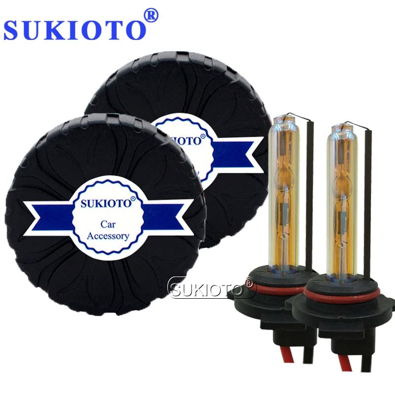 SUKIOTO 55W AC HID Xenon Canbus Kit EMC No Error HB3 HB4 5000k D2H 6000k 8000k