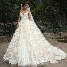 998d072cf8 Vintage Turquía Plus tamaño de bola vestido boda Vestido con velo de novia  vestido 2019 de manga larga princesa Líbano ilusión á.