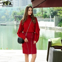 2018 New Fashion Ladies Temperament Small Fragrance Style Womens Sets Two Piece Sets Sweater High Waist