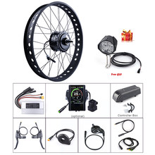 "Fat E-bike Bafang 48V 750W Rear 20"" 26"" Wheel Hub Motor Electric Snow Bicycle Conversion Kits DIY DC Cassette Powerful Engine(China)"