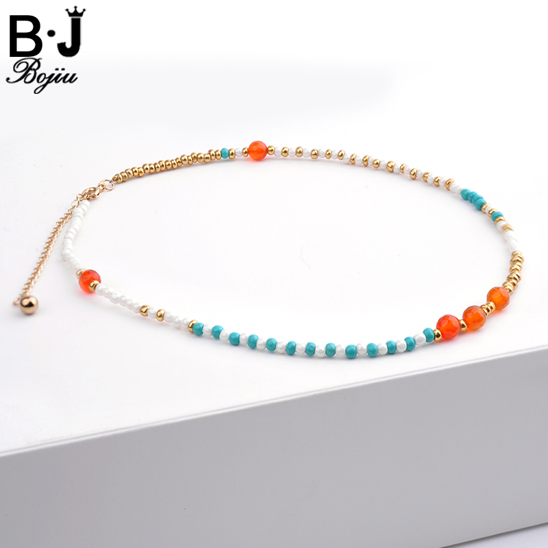 Bojiu Energetic Necklace For Women Colorful Seed Bead -5516