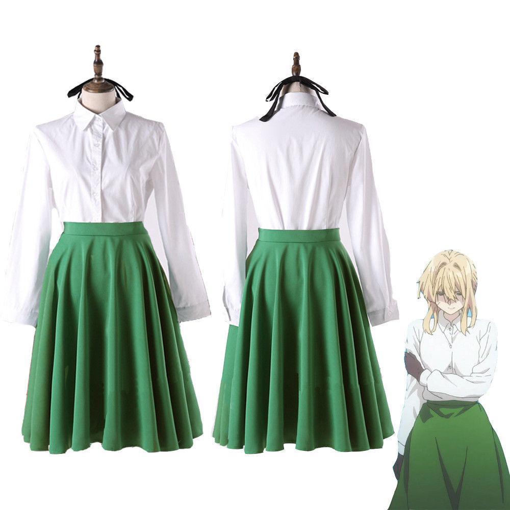 Violet Evergarden Uniform Dress Casual Shirt Skirt Set ...