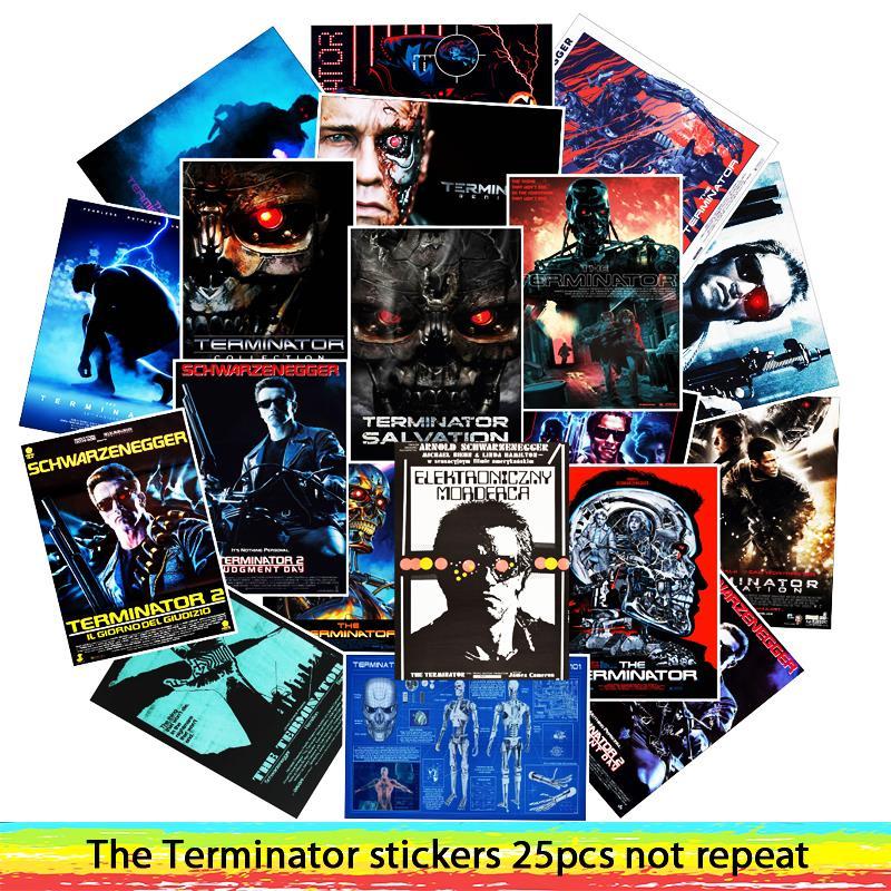 25 pcs Classic Movie The Terminator adesivi Per I Bagagli Del Computer Portatile di Arte del FAI DA TE Pittura Poster Adesivi impermeabile giocattolo di skateboard25 pcs Classic Movie The Terminator adesivi Per I Bagagli Del Computer Portatile di Arte del FAI DA TE Pittura Poster Adesivi impermeabile giocattolo di skateboard