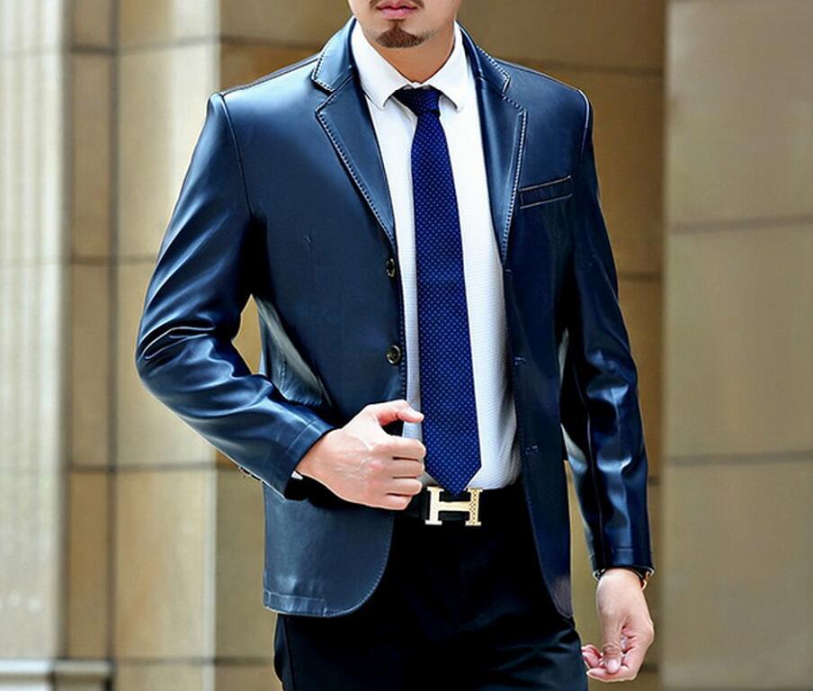 M--3XL        HOT 2018 Winter Men New Leisure Fashion lapel  Inclined  Coat