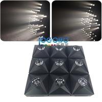 Commercio all'ingrosso 8x Diamante Della Fase DEL DJ Matrix Fascio effetto matrice di LED e Audience blinder 3x3 display del Pannello di luce laser stroboscopica per vendita