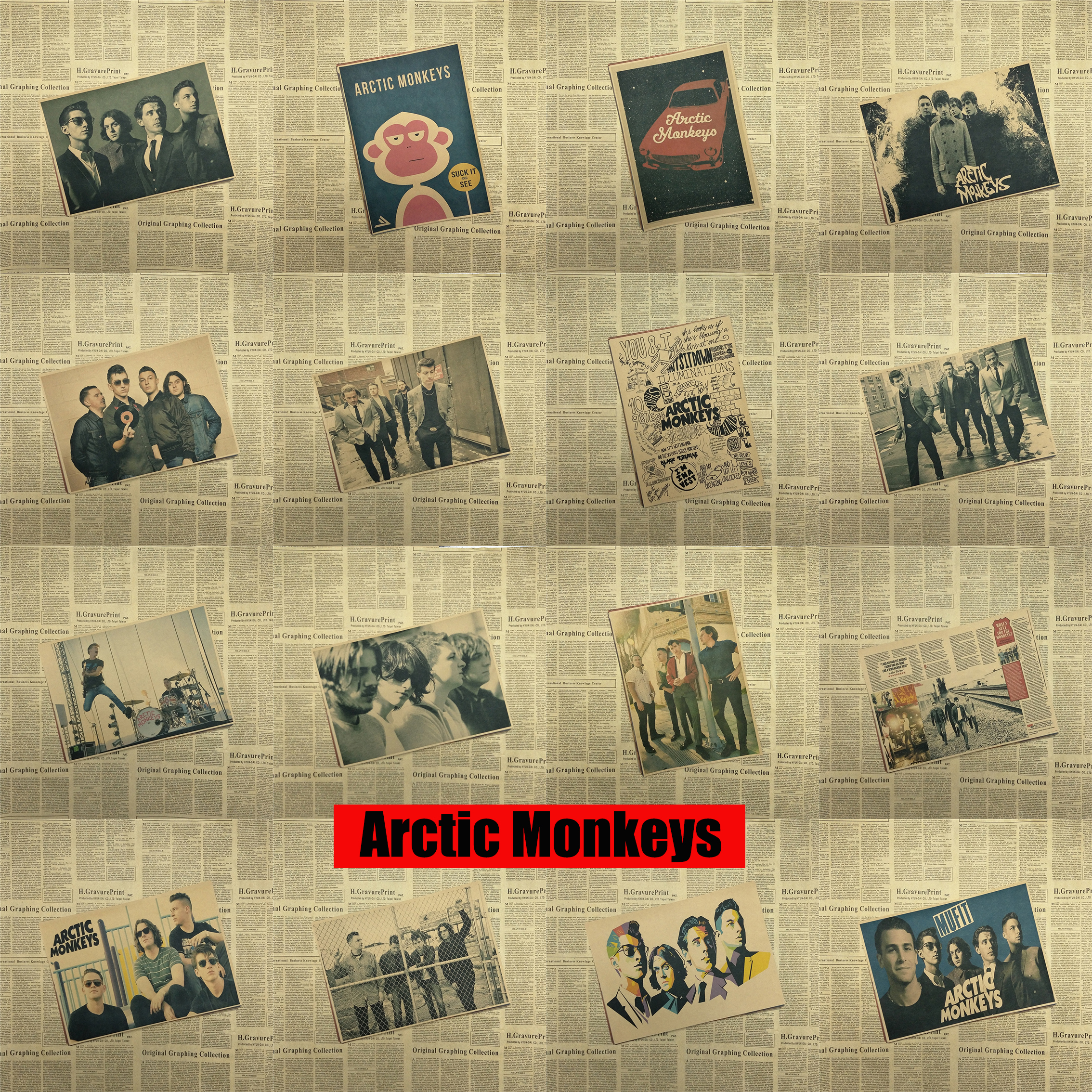 Arctic Monkeys Tattoo Quote Canvas Art Print Painting Poster Wall ...