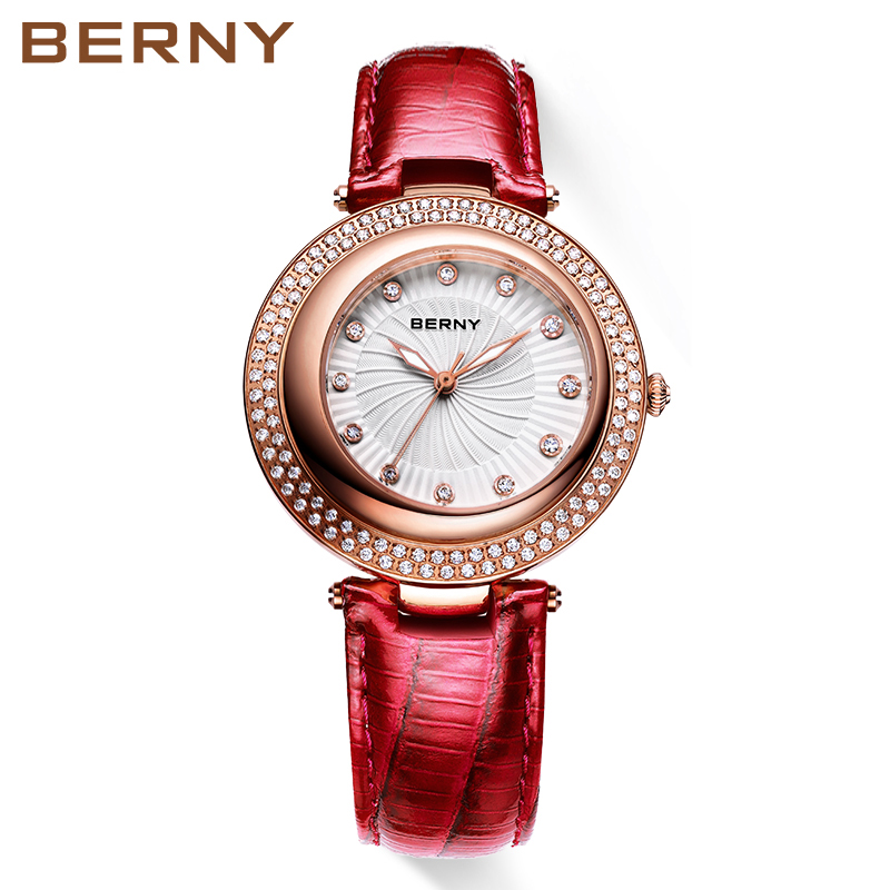 Berny Women Watch Quartz Lady Watches Fashion Top Brand Luxury Relogio Saat Montre Horloge Feminino Bayan Femme JAPAN MOVEMENT цена 2017