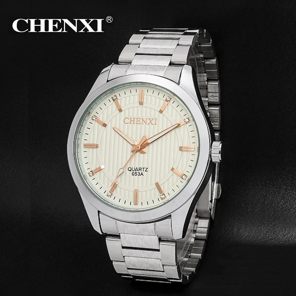 2017 CHENXI Top Brand Mens Watches Luxury Quartz Casual Watch Men Full Stainless Steel band Dial Clock relogio masculino new fashion brand round dial black couple watch men luxury stainless steel casual quartz watches relogio masculino clock hot