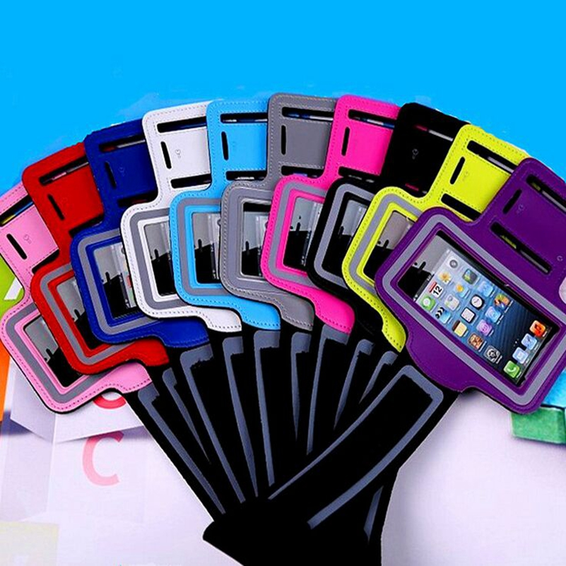 100pcs/lot Hot Selling Arm Band Running Gym Sports Armband Case Bag For Apple Iphone 6 7 8 For Iphone 7 Plus 6plus Harmonious Colors Mobile Phone Accessories Armbands