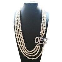 Topvekso Африканский Перл заказ Восточная звезда Многослойные себе ювелирные изделия OES жемчуг Цепочки и ожерелья