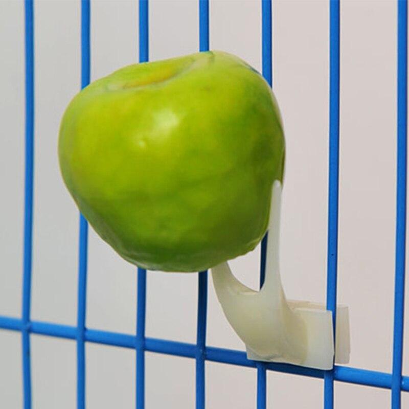 2 Pcs Birds Parrots Plastic Fruit Fork Pet Supplies Food Feeding On Cage Pet birds Supplies 2size Bird cage accessories Supplies