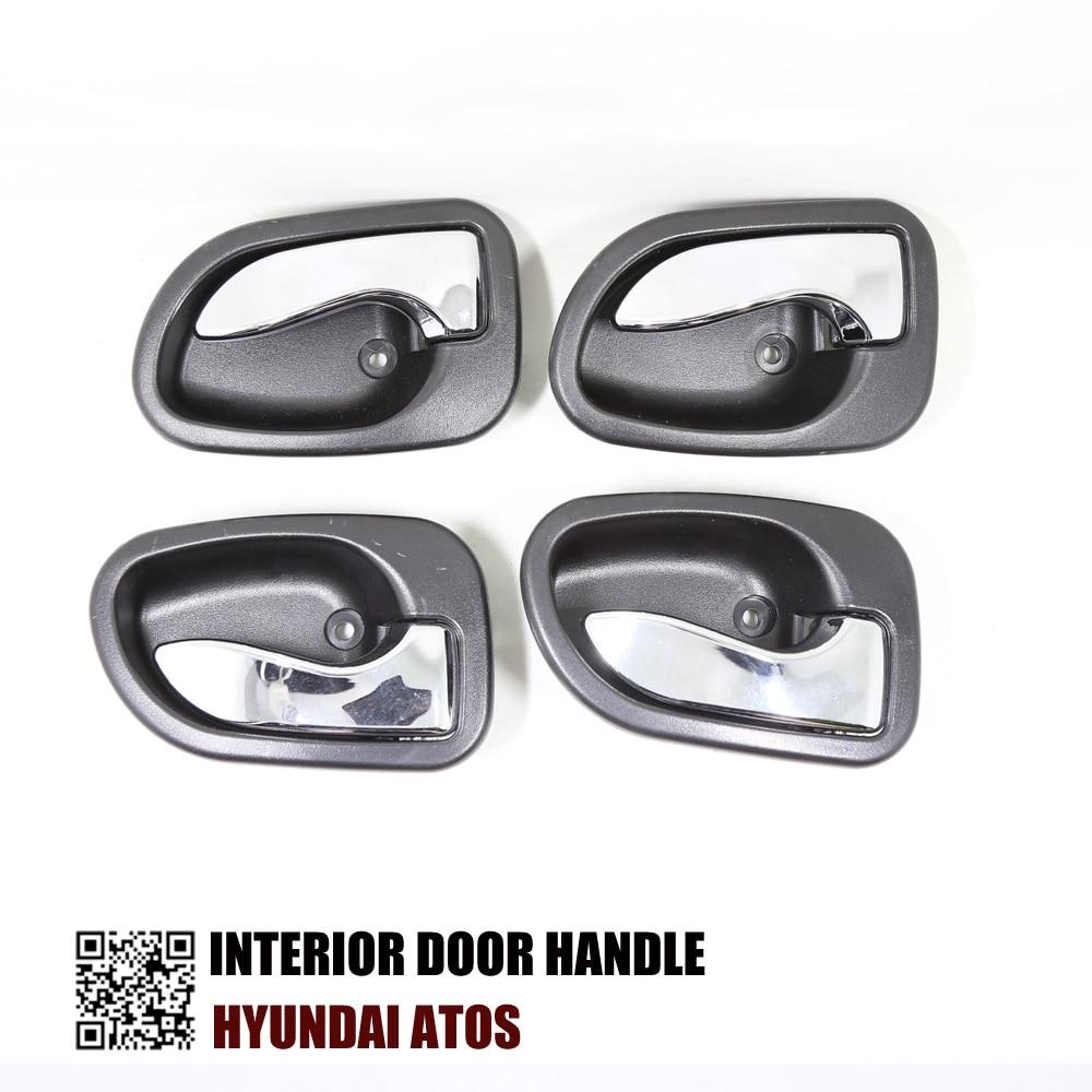 4pcs one set interior door handle for hyundai atos 1997 2005 82610 02000 82620
