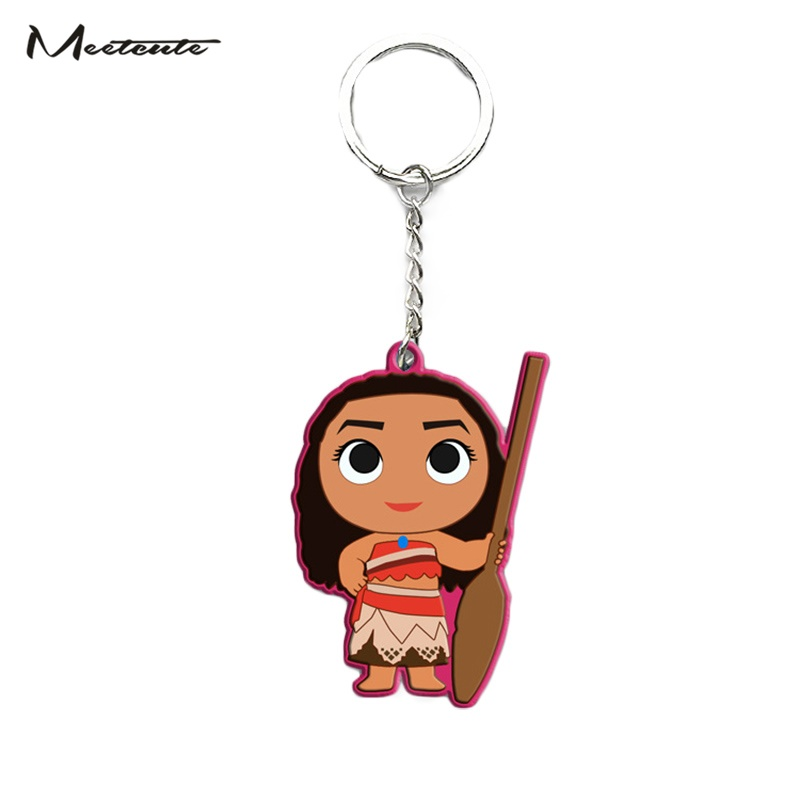 Movie Princess Moana Keychain Keyring Action figure Maui Adventure Accessories