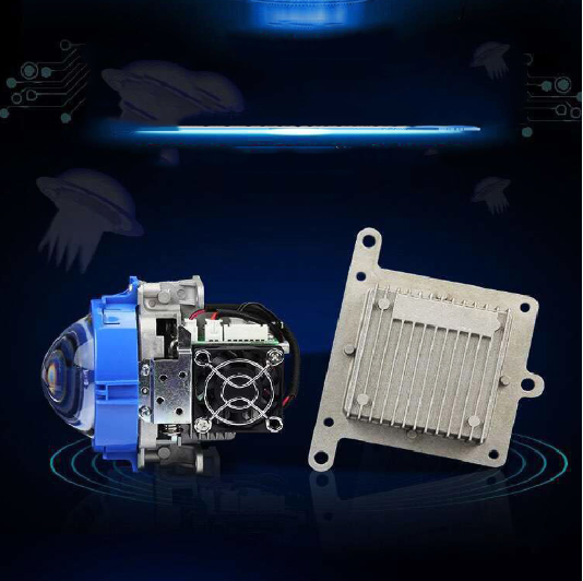 2017 Free shipping SANVI Bi-LED Projector Lens Headlight 35W 6000K Hi Lo Beam Auto lighting Car-styling LED Headlight Autoparts