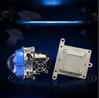 2pcs Free Shipping High Quality 70W 5500K Bi LED Projector Lens Auto lighting LED Headlight Bi LED Projector Lens Car Headlight