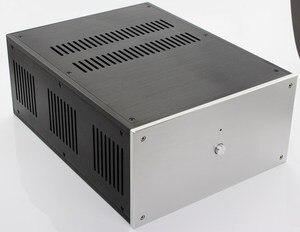 Image 1 - حالة 285*150*370 مللي متر WA109 الألومنيوم مكبر للصوت الشاسيه/فئة A مكبر كهربائي/النقي بعد مكبر للصوت حالة/AMP ضميمة/حالة/DIY مربع