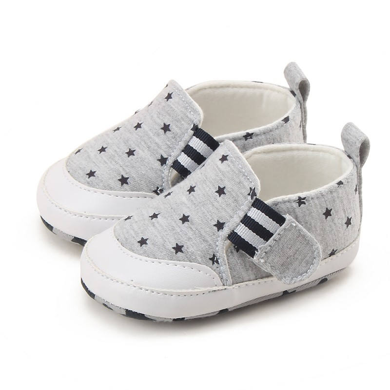 2017 Hot Sale Kids Baby Soft Bottom Walking Shoes Striped Anti Slip Cotton Fabric Toddler Infant