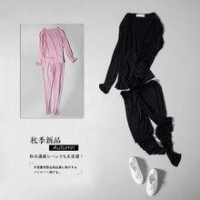 Ms 100% mulberry silk silk long Johns underwear suits silk long sleeve render unlined upper garment leggings