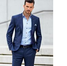 Custom men's suit two-piece wedding the groom best man suit style fashion trends of leisure Christmas party men's suit