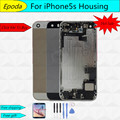 Best quality full Housing Assembly For iPhone 5S Back Battery Cover Case + flex cable + button Replace part free tools