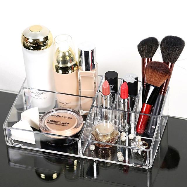 Hot Modern Fashion Women Box Clear Acrylic Jewelry Cosmetic Storage