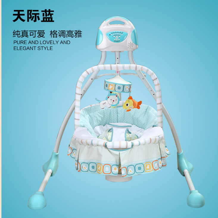 a1c296b55352 Free shipping luxury baby cradle swing electric baby rocking chair ...