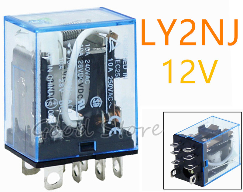 ᗔ buy relay 8 a 1 pcs and get free shipping 1bh471jaly2nj 1 pcs 8 pins dpdt relais 12 v ac dc 10a general purpose relay