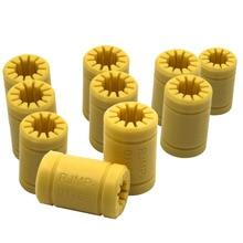 10 pcs  RJMP-01-08 LM8UU Replacement Full Plastic Linear Bearings for 3D Printer 8mm solid shaft QJY99