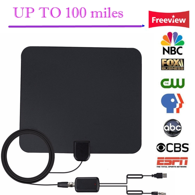 US $12 73 20% OFF|HDTV Digital Signal 100 Miles Long Range Indoor TV  Antenna With Detachable Amplified DTMB ATSC ISDB T DVB T TV Surf Fox Antena  -in