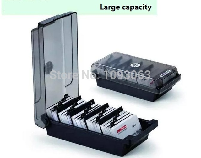 1 pcs large capacity storage card case business cards storage box 1 pcs large capacity storage card case business cards storage box batch cards holder reheart Gallery
