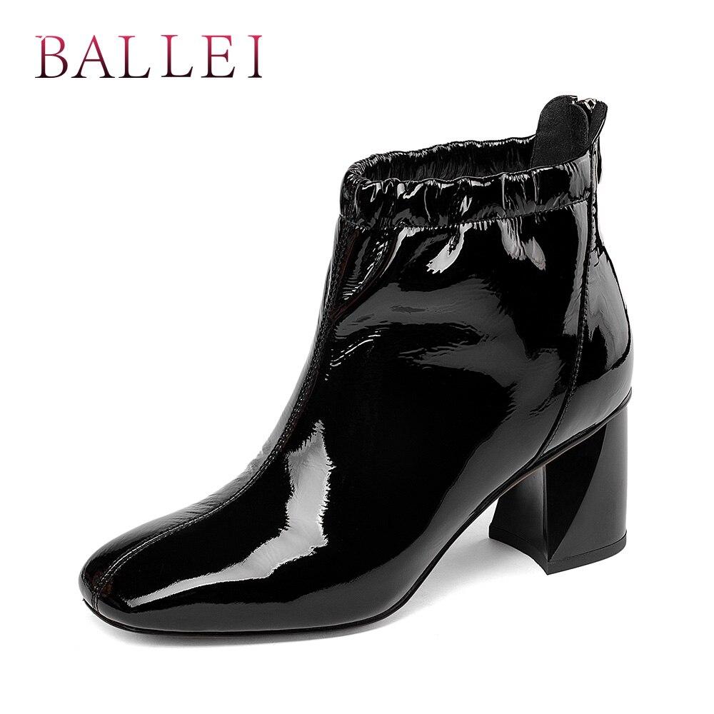 new products 030ba be8f7 Brevetto Quadrato Pelle Ballei Modo Della Tacco In Casual Di ...