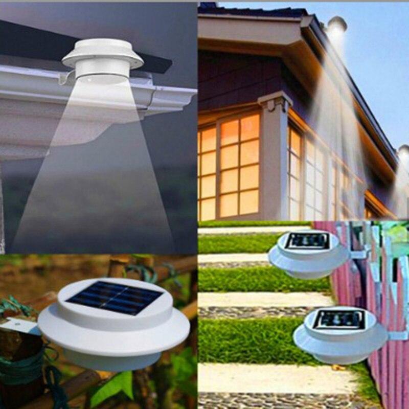 LED solaire étanche applique extérieure éclairage capteur lampes murales lumière de jardin avec clôture de jardin et lampe de canal intelligent solaire