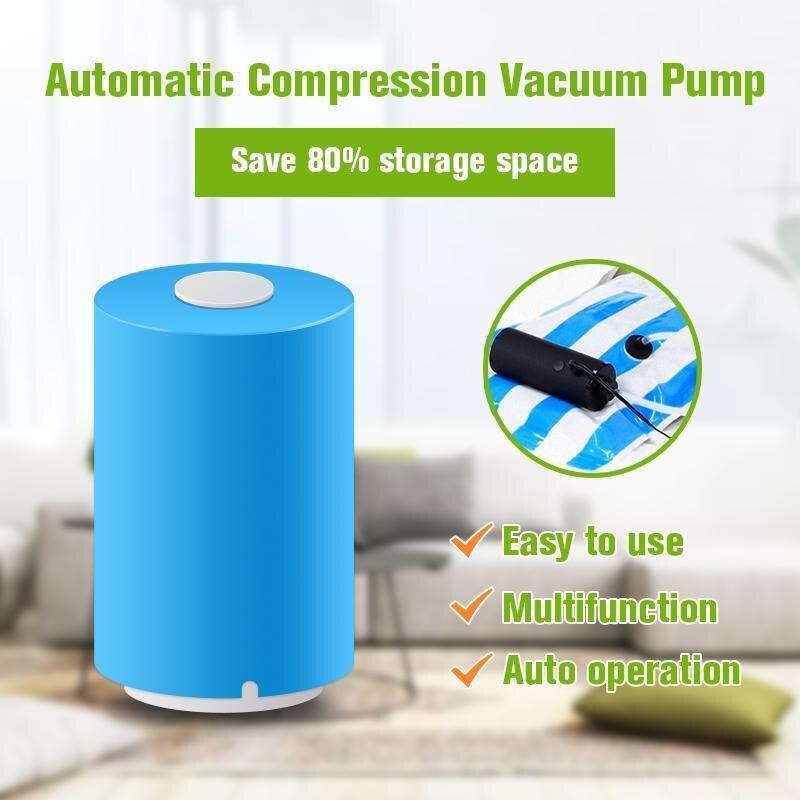 Mini Automatic Compression Vacuum Sealer Electric Air Pump 5X Food Storage Bag