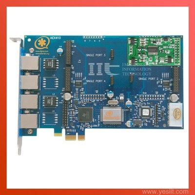 PCI-E with 1FXS module PCI express Asterisk card AEX410 tdm400p tdm410p elastix