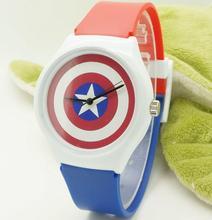 Chegam novas Willis crianças Xmas gift assista + homens/lady dress moda geléia relógio + promoção meninos Capitão América relógio de borracha