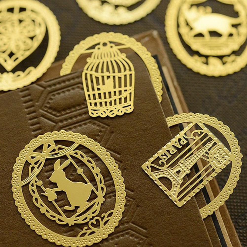 Новые металлические закладки Мини Симпатичные животные клетка сердце Эйфелева башня Книга Все клипы для школы офиса канцелярские 2,5*3 см