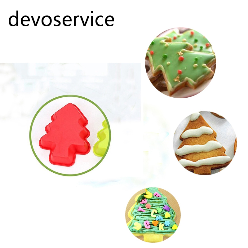 Christmas Tree Muffins: 2Pcs Christmas Tree Shape Silicone Muffin Mould Cupcake