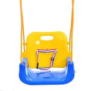 Image 4 - 3 In 1 Multifunctional Baby Swing Hanging Basket Outdoor Kids Toy Baby Swing Toy Patio Swings