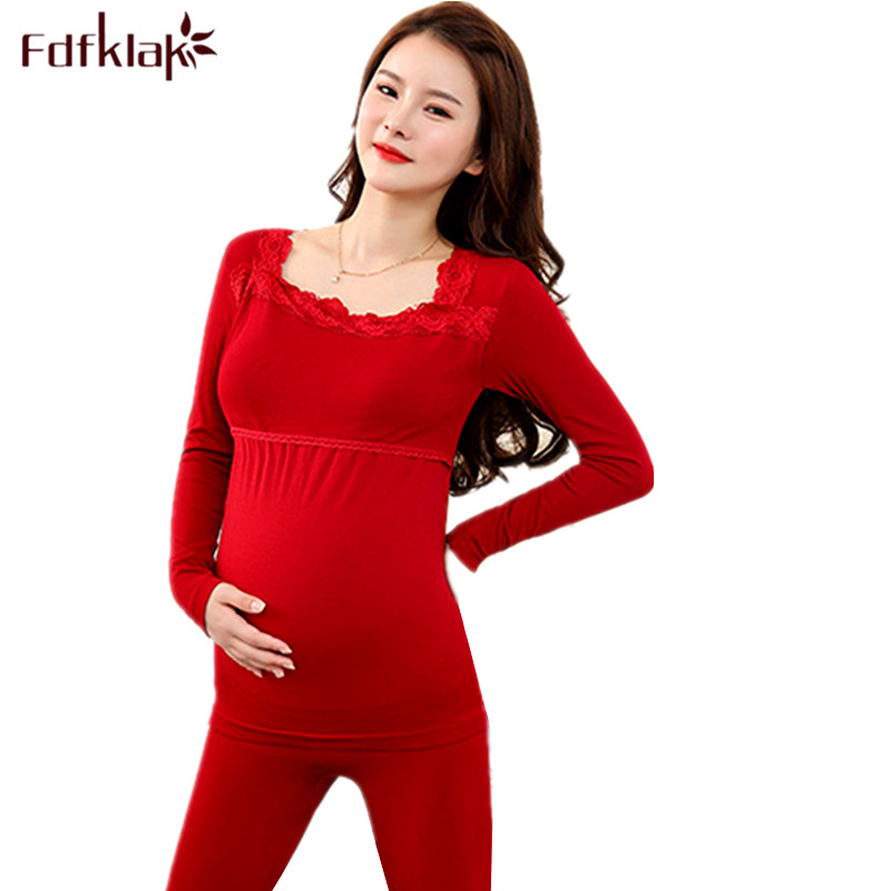 Fdfklak New Maternity Nursing Pajamas Pregnant Women Breastfeeding Pregnancy Clothes Cotton Comfortable Maternity Sleepwear Set