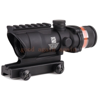 Tactical Trijicon Acog Style 4x32 Rifle Scope Red Optical Fiber Acog Style Hunting Shooting
